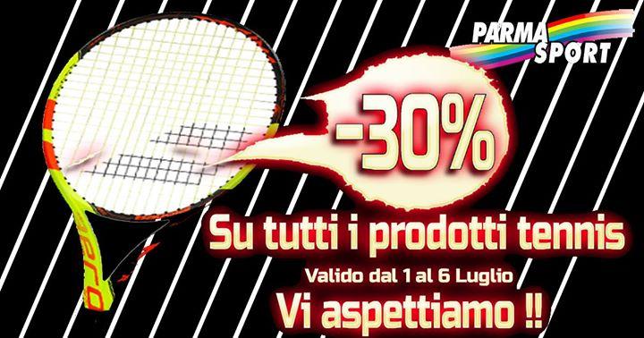 Grande promozione Tennis. Dal 1 al 6 Luglio settimana di super sconti. Vi aspettiamo!!!!!